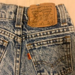 Vintage levis acid wash 5T orange tag